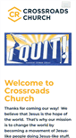 Mobile Preview of crossroadschurch.cc